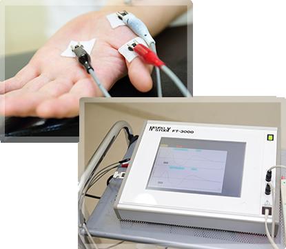 神経筋機能検査装置を使った手根管症候群の検査
